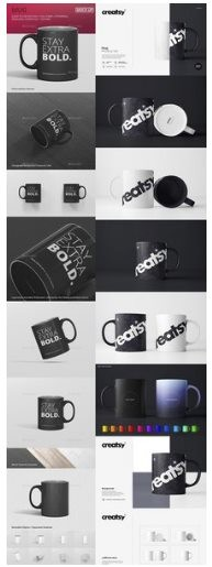Black&White Mug Mockup Set