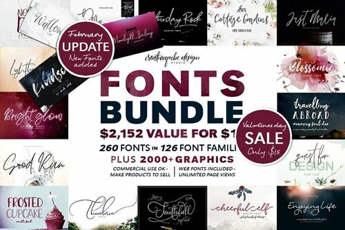 126 Awesome Fonts Bundle