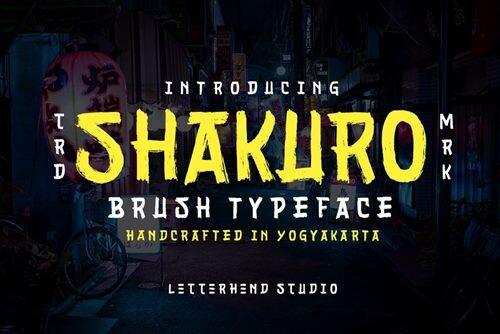 Sakhuro - Brush Typeface Font