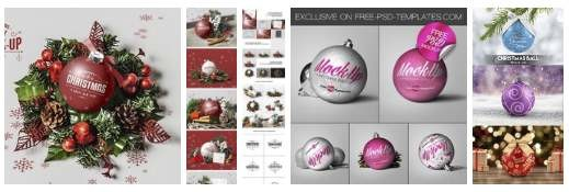 Christmas Ball Mockup Set