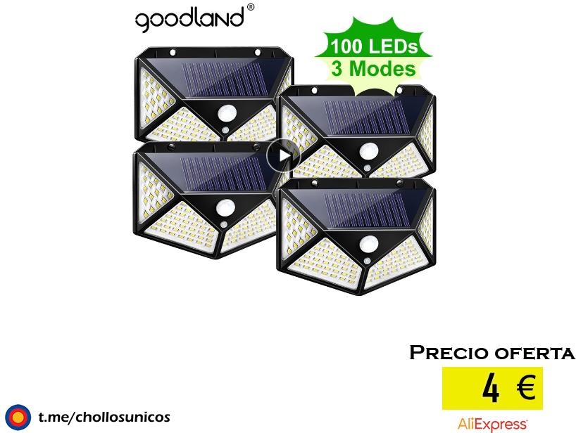 Goodland 100, luz Solar LED para exteriores, lámpara Solar