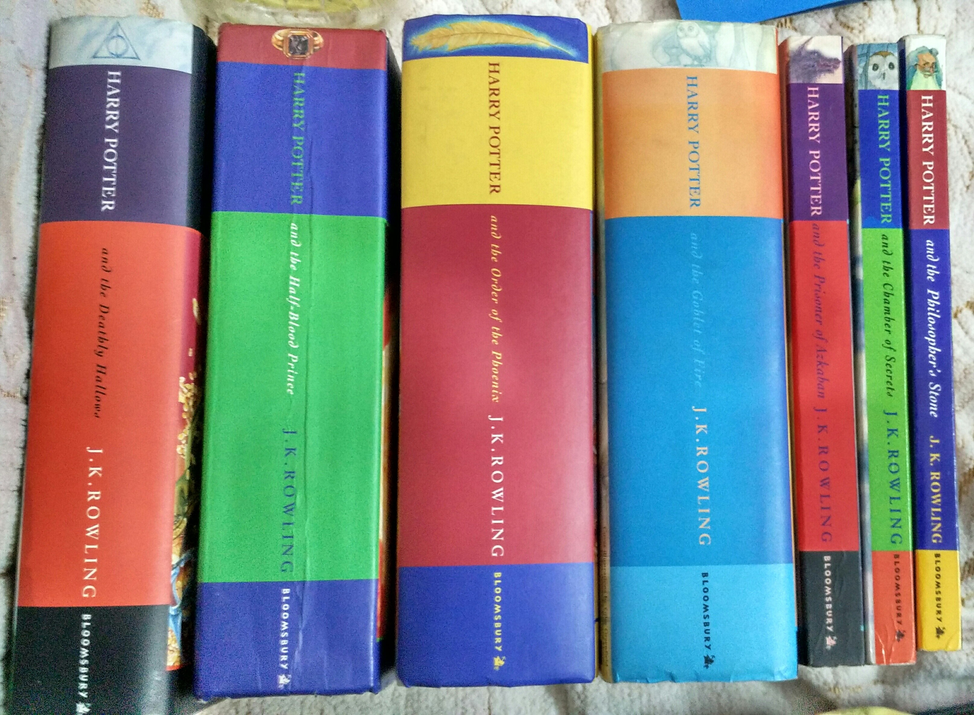 After 4 years, ive finally collecte all the 7 Harry Potter books in