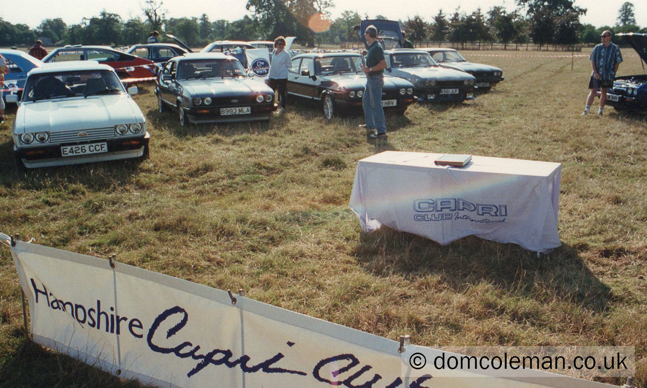 Ford Fair at Blenheim Palace with Hants CC - Aug 1994