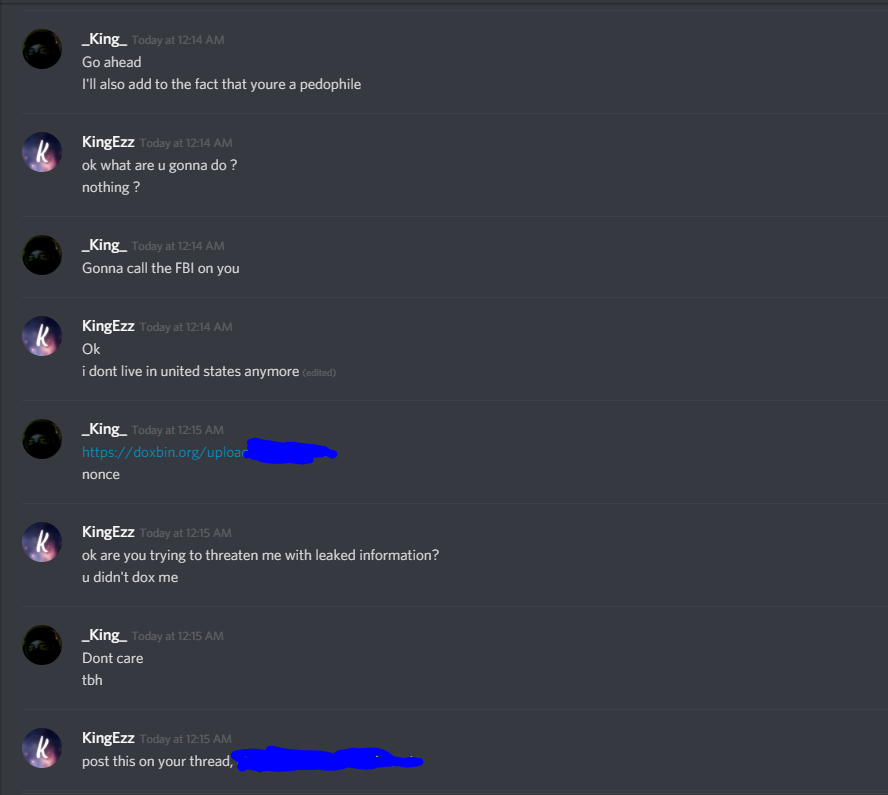 CW] KingEzz sending CP / Scamming / Swatting / Self-Repping / Hack
