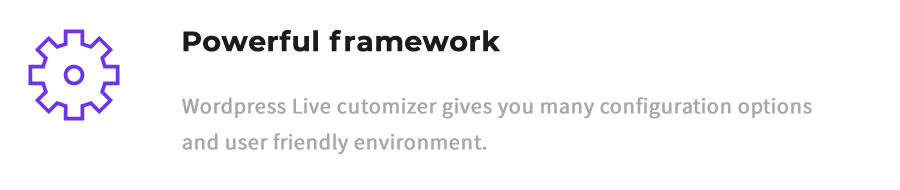 feature powerful framework