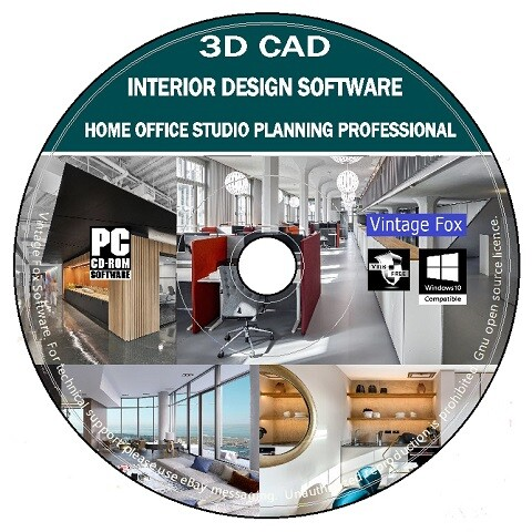 3d Cad Home Office Studio Interior Design Professional Business Place Planning Ebay