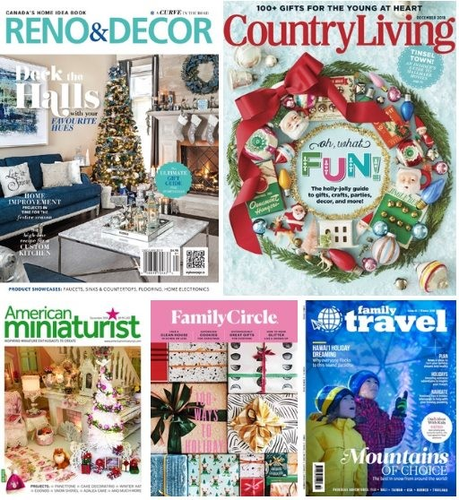 5 English Magazines December 2018/January 2019