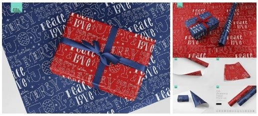 Gift Wrapping Paper Mockups