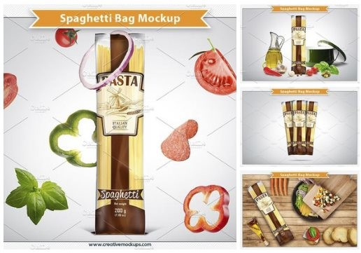 Spaghetti Bag Package Mockups