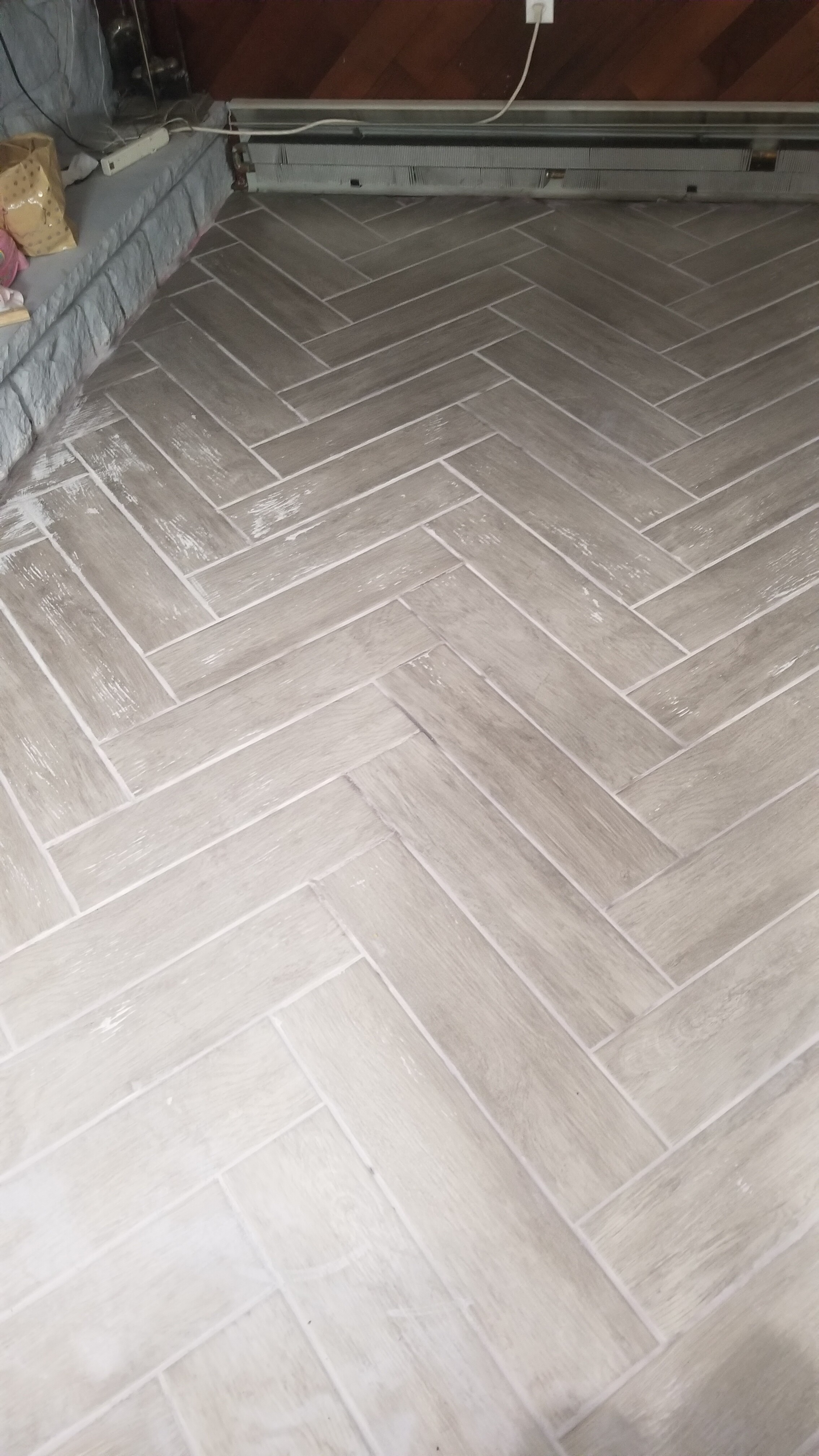 I messed up - grout dried : HomeImprovement