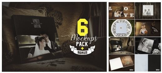 Photography album mockups vol.1