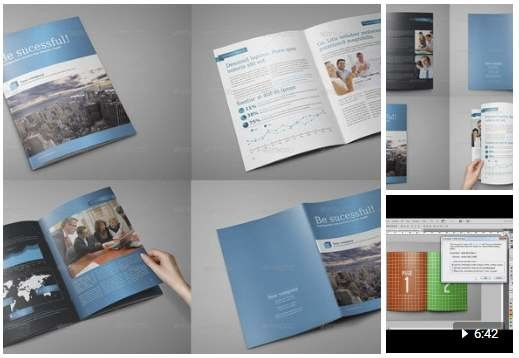 Brochure / Catalog / Magazine Mockup Set