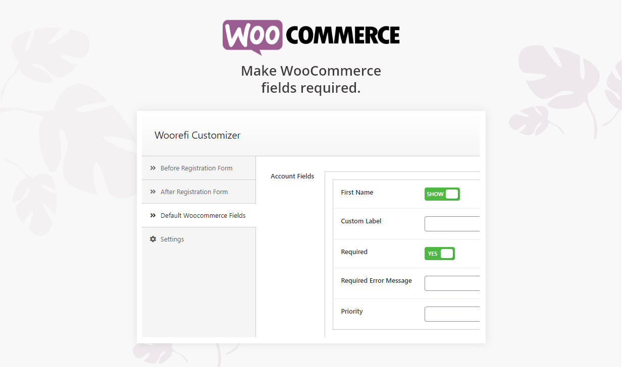 Woorefi | WooCommerce Custom Registration Fields | Required WooCommerce