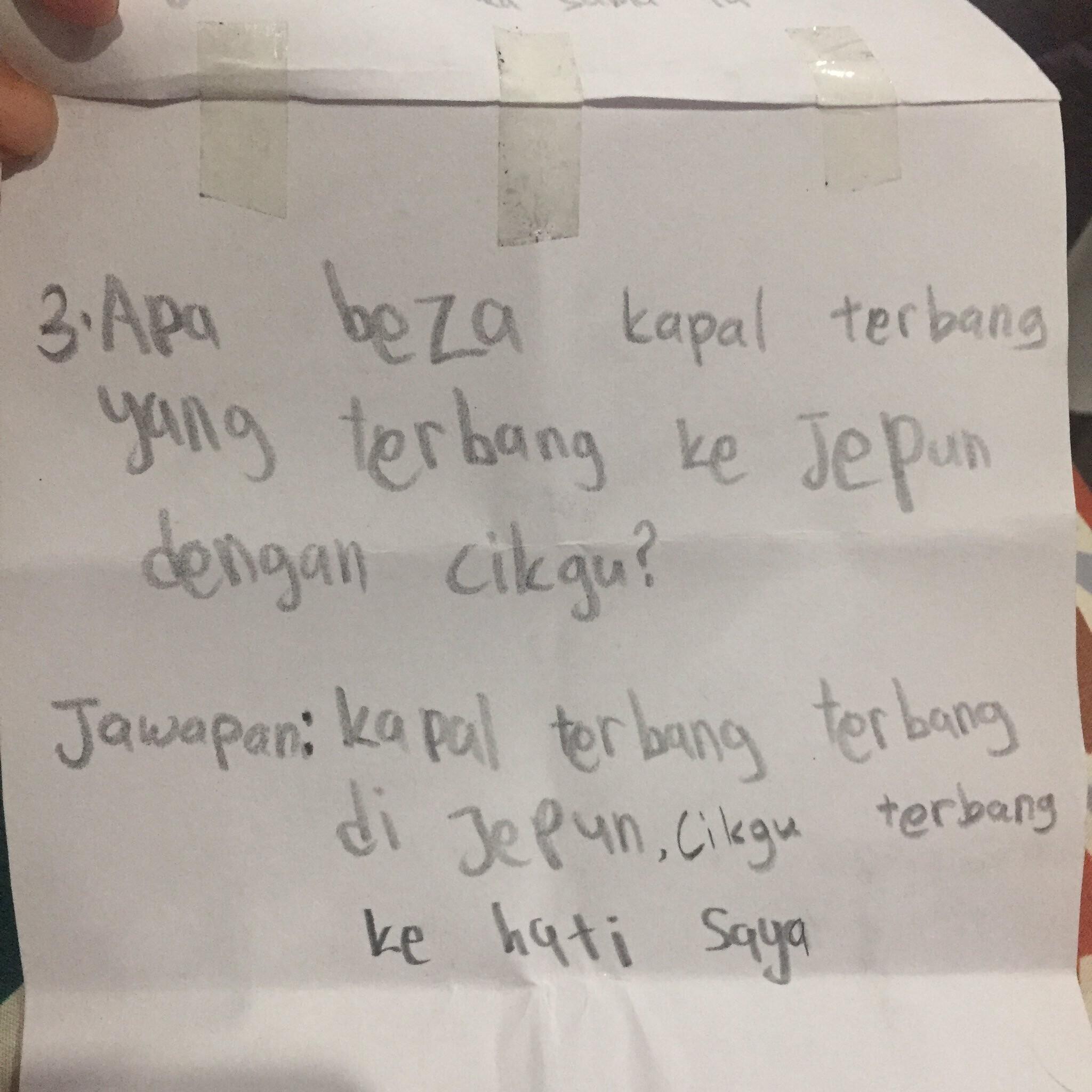 surat cinta murid
