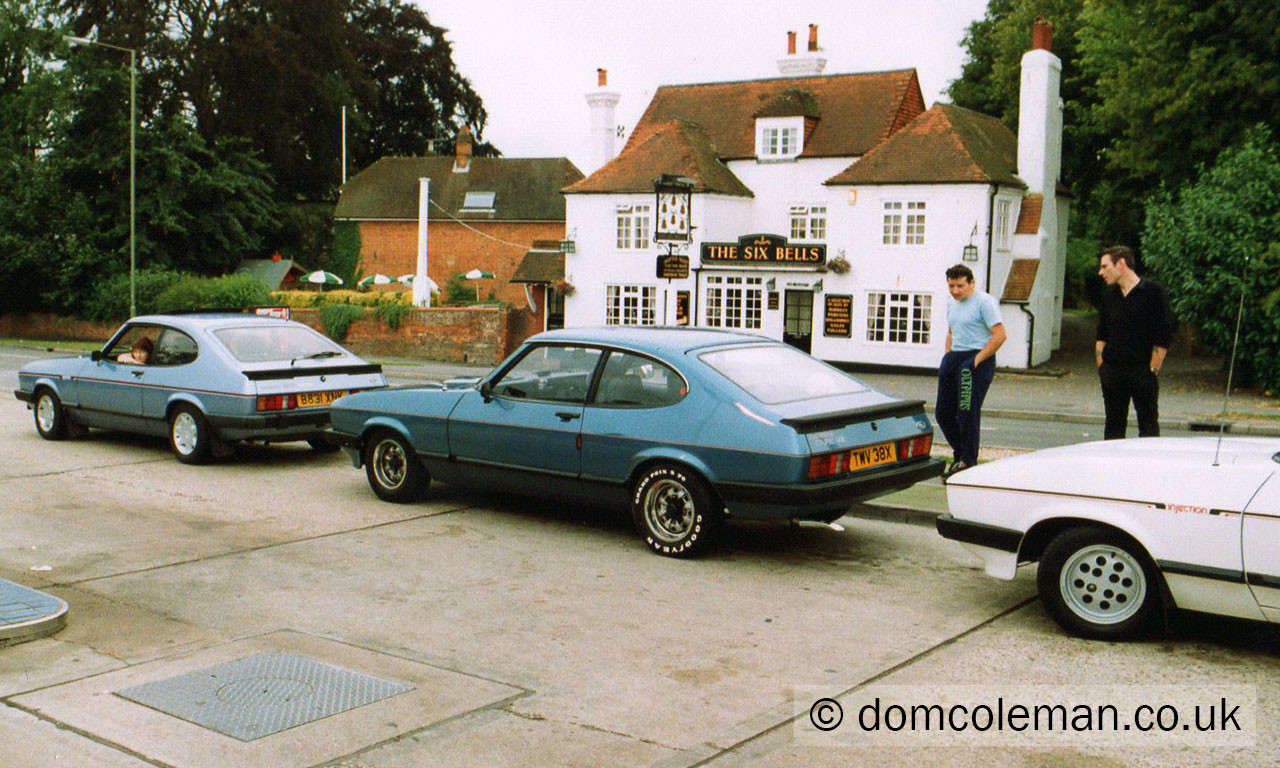 Hants Capri Club on way to Chichester - Jul 1992